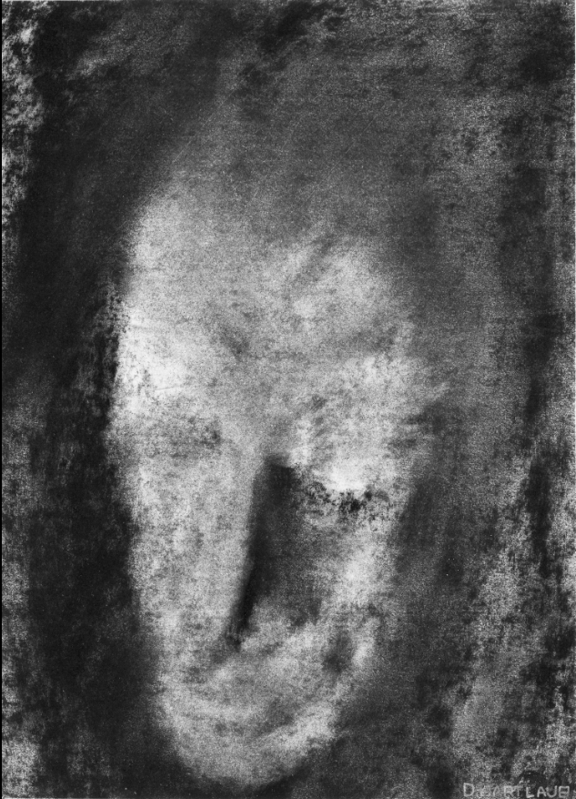 Daniel Hartlaub. Charcoal on Paper. 17.5 x 12.7cm. The artwork is signed.