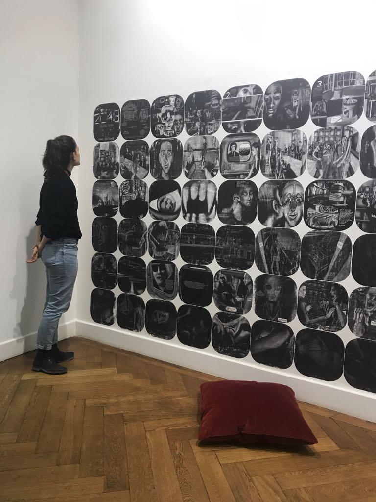 20171103_193820THE DESIRE CALLED UTOPIA AND OTHER SCIENCE FICTIONS, Graphic Novel 2048- When It All Began at Nassauischen Kunstverein Wiesbaden. Photo: Frankfurt Hatami-Fardi
